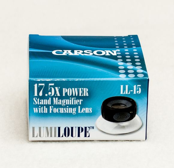 Standing Adjustable Focus Loupe Magnifier (17½X).