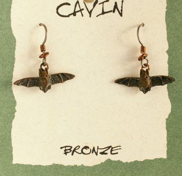 Bat Bronze Earrings (Wildlife In Bronze).