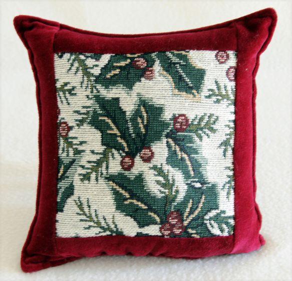 Holly Leaves Balsam Heirloom Pillow.