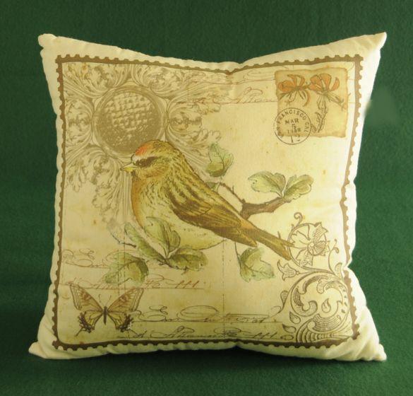Bird & Butterfly Post Pillow