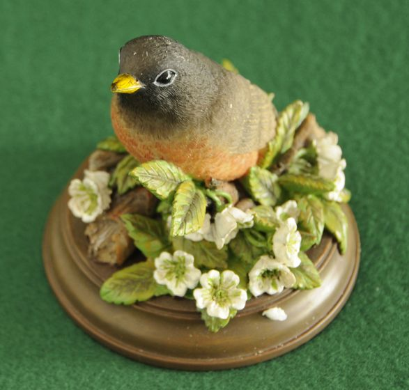 Robin & Flowers Statuette
