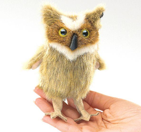 Owl (Great Horned) Finger Puppet