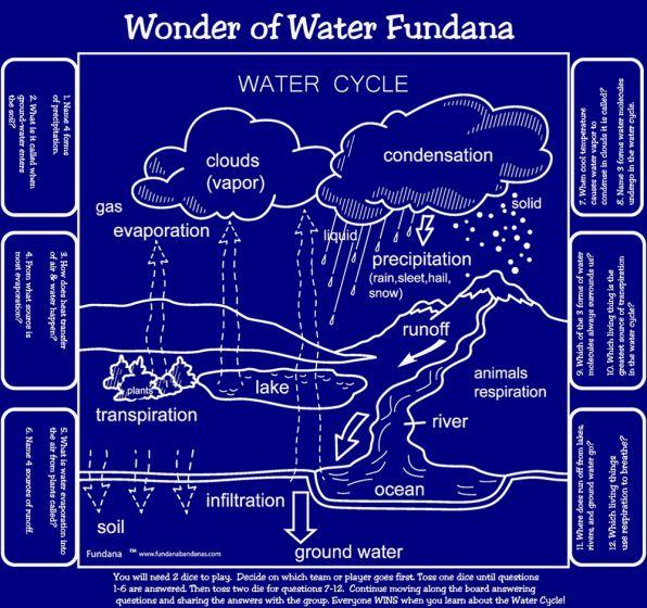Wonders of Water/Water Cycle Scarf (Fundana® Bandana)
