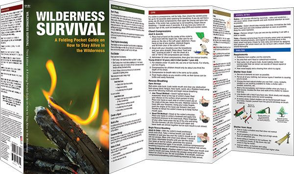 Wilderness Survival, 3rd Edition: A Folding Pocket Guide on How to Stay Alive in the Wilderness (Pocket Naturalist® Guide)