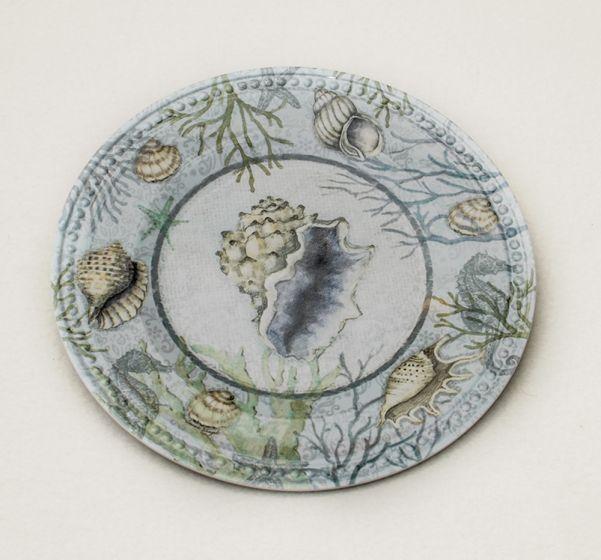 Seashell Melamine Plate.