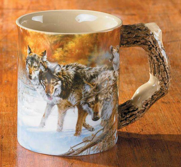 Wolves Sculpted Mug.