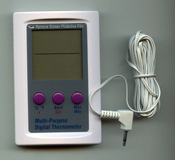 Dual Zone Digital Thermometer with Probe