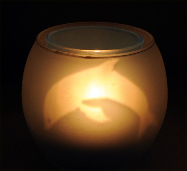 Dolphin Tri-Candle Holder