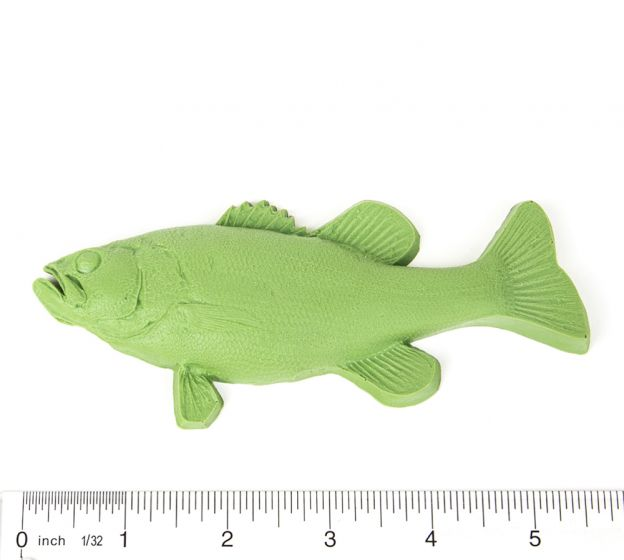"Bass (Largemouth) Fish Printing Replica (5"")"