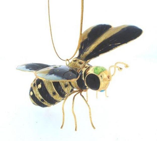 Bee Enamel Ornament