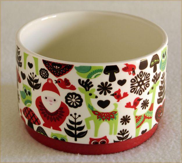 Christmas Collage Bowl.