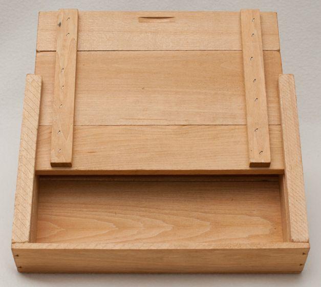 """Wooden Slide-Top Storage Box (12"""" X 9"""" X 2"""")"""