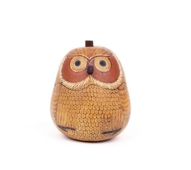 Blonde Owl Gourd Box