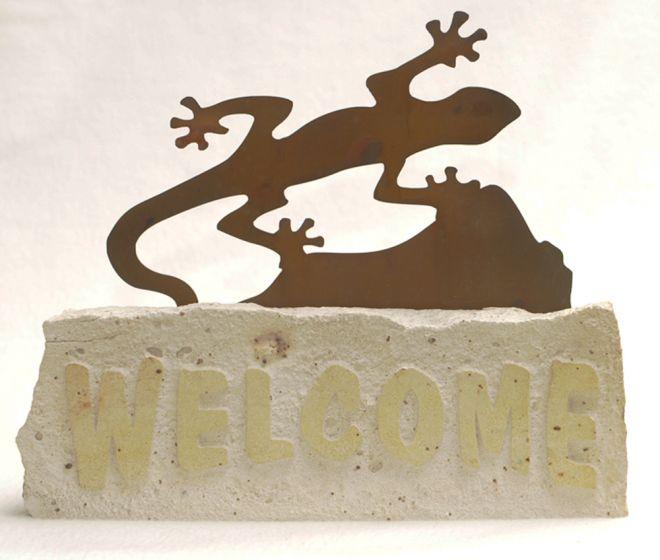 Gecko Welcome Doorstop