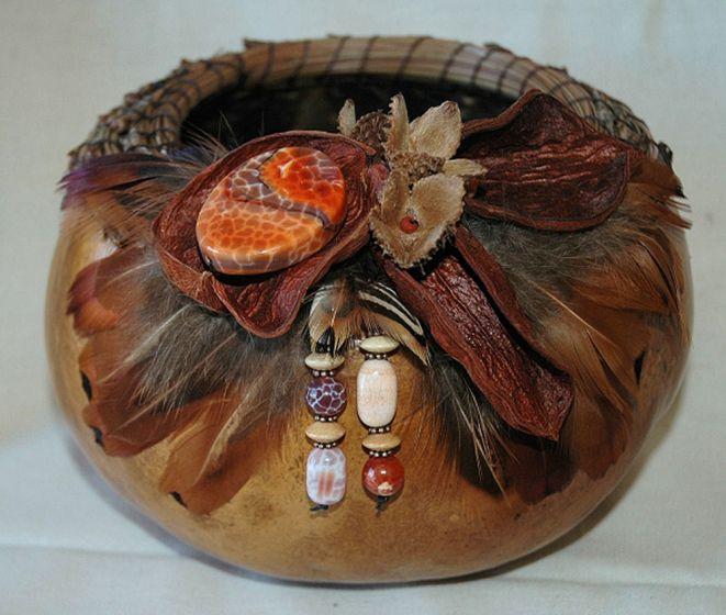 Fire Agate Gourd Basket