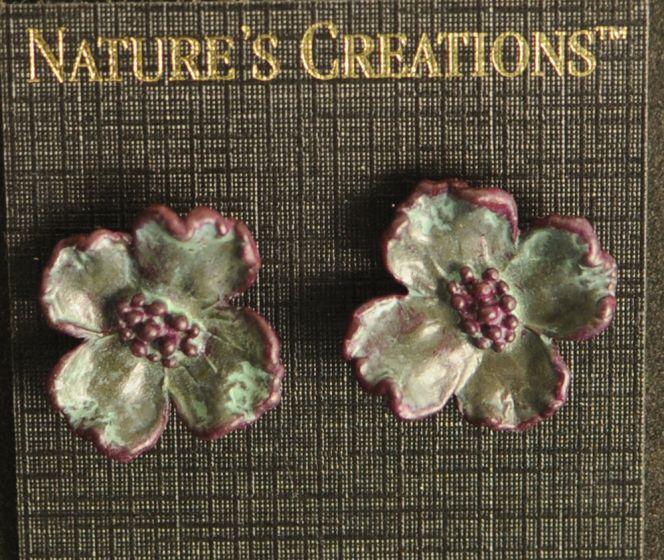 Dogwood Blossom Natural Impressions Earrings