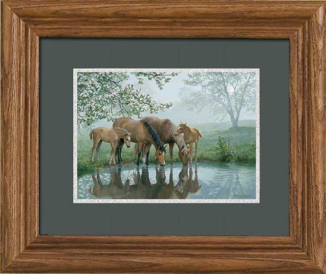 """Horses """"Sweet Spring"""" Framed Print"""