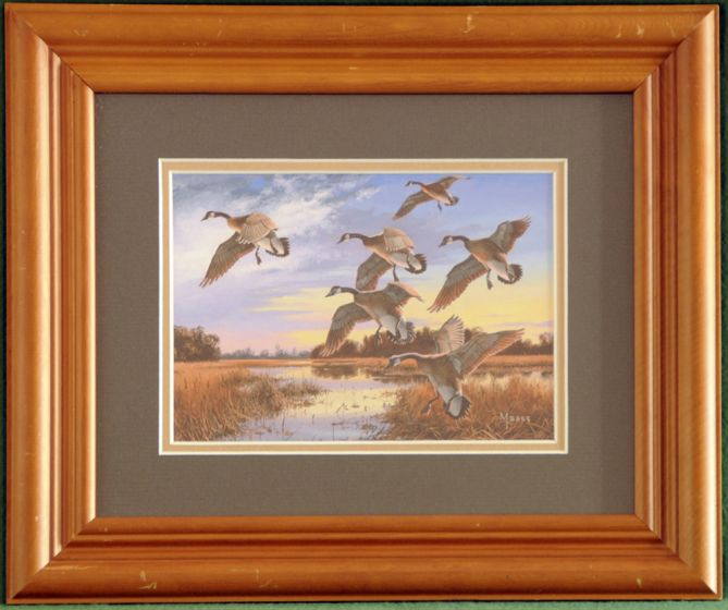 """Canadian Geese """"In At Dusk"""" Framed Print"""