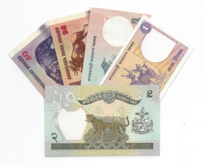 Bank Notes Bookmarks (Set Of 5)