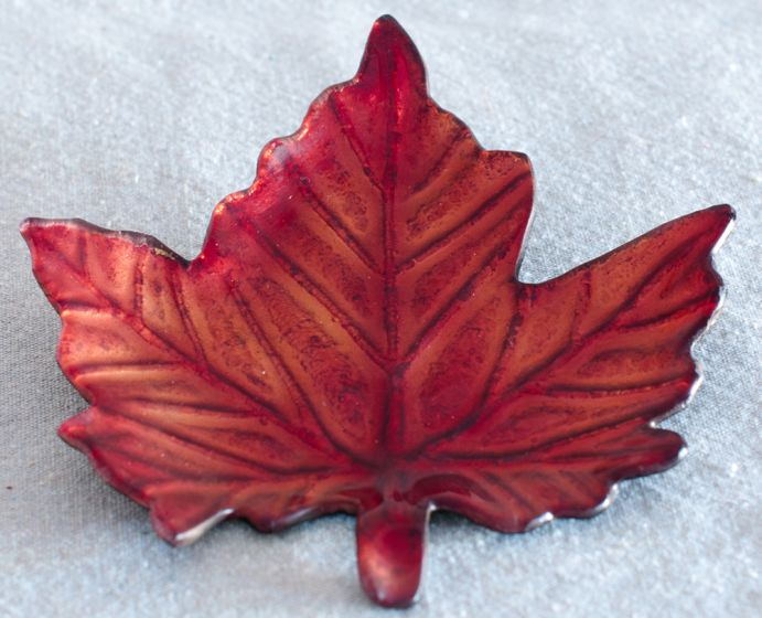 Fall Leaf Candle Plate