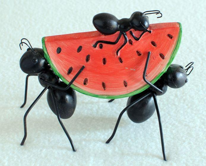 Three Ants & Watermelon Statuette