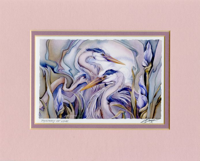 Herons Mystery Of Love Print
