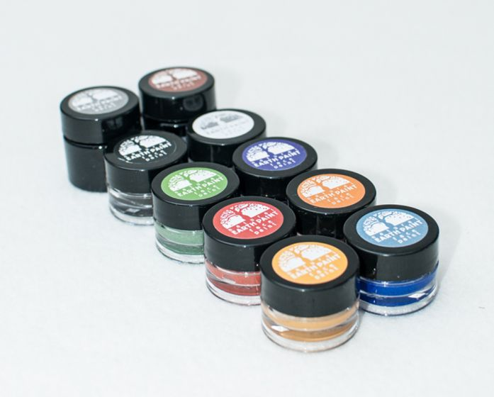 Earth Clay Face Paint Jar Collection (10 Color Jars)