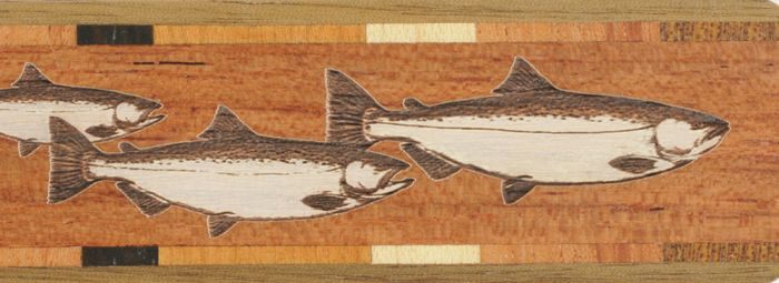 Fish Wood Bookmark.