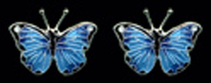 Blue Morpho Butterfly Earrings (Post)