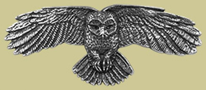 Pewter Owl Barrette