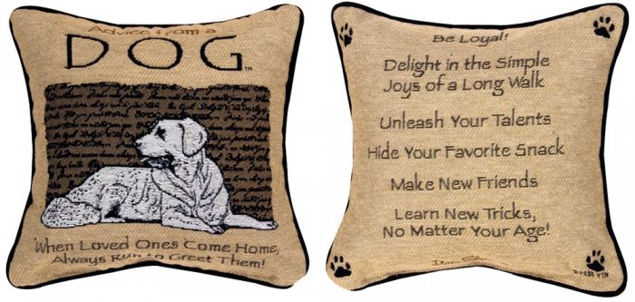 Advice From A Dog™ Pillow.