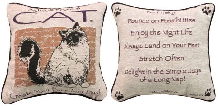 Advice From A Cat™ Pillow.