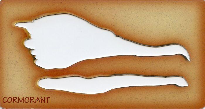 Cormorant Trace-A-Skull® Template.
