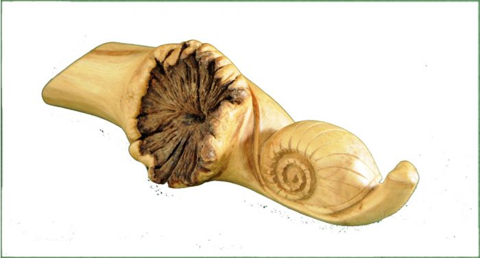 Snail Wood Carving.