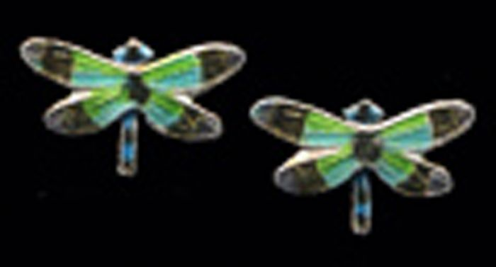 Radiant Gossamer Wing Dragonfly Earrings (Post)