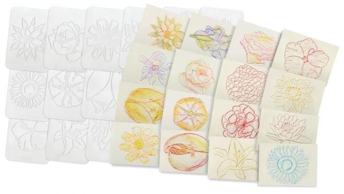 Flowers Rubbing Plates