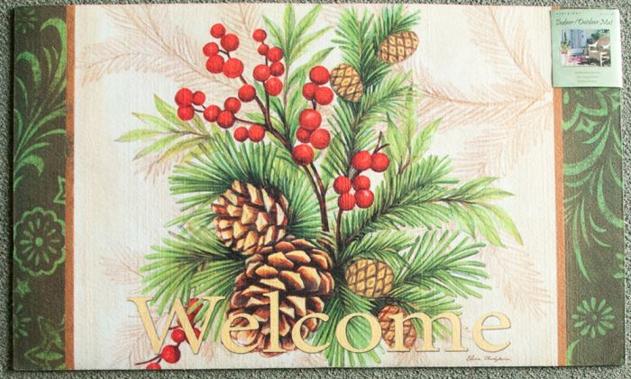 Pinecone Welcome Floor Mat