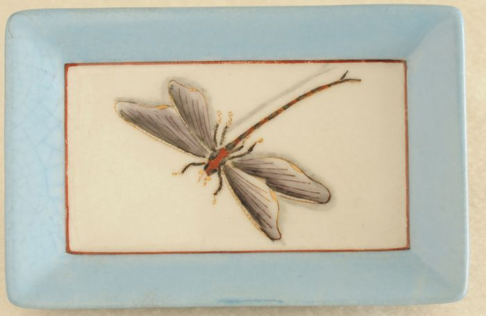 Dragonfly Decorative Porcelain Tray.