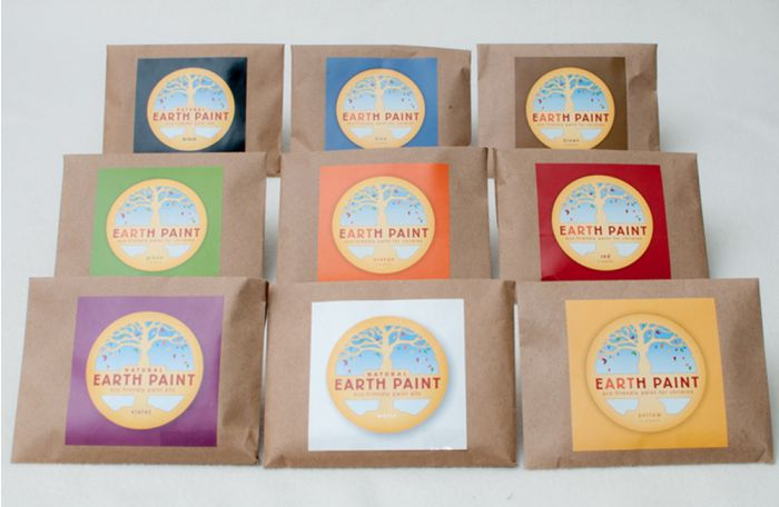 Earth Clay Paint Packet Collection (9 Color Packets).
