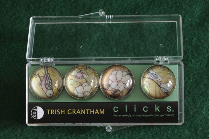 Birds & Flowers Clicks® Magnet 4-Pack