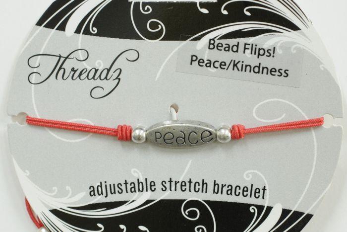 Peace & Kindness Flip Bracelet