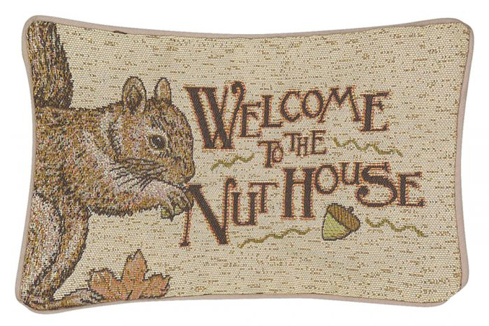 Welcome To The Nuthouse Pillow