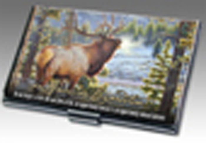 American Elk Business Card Holder