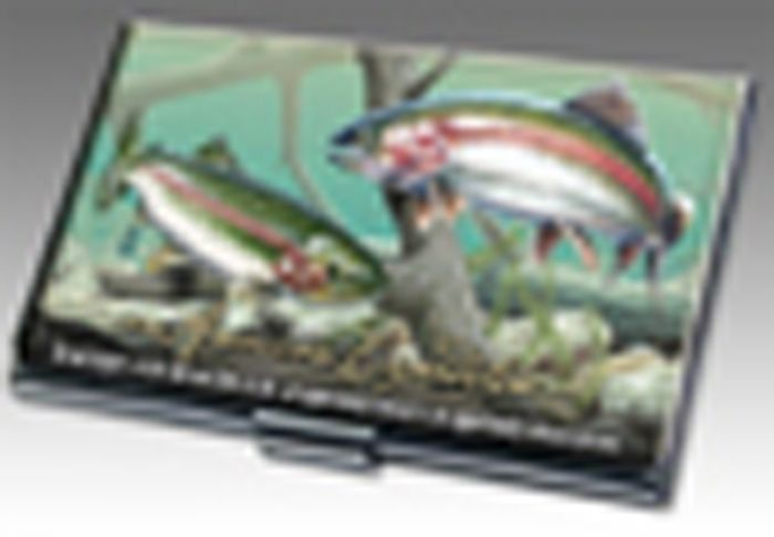 Rainbow Trout Business Card Holder.