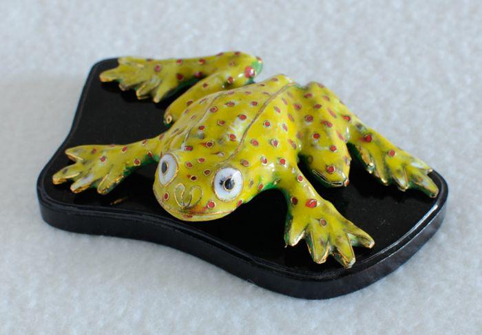 Cloisonne Frog Figurine