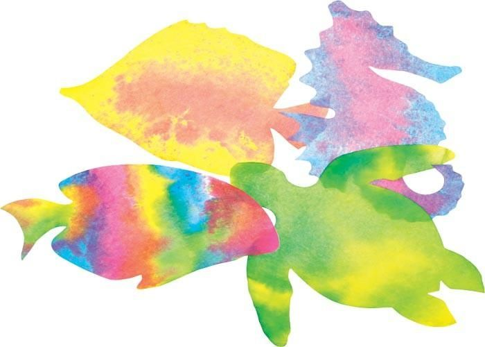 Color Diffusing Sea Life (4 designs, 48 total)