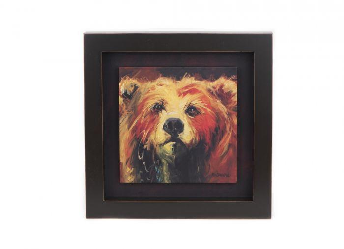 Bear Shadow Box Wall Canvas