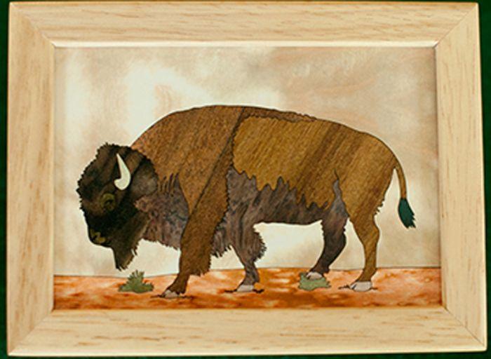 Buffalo Wood Box (4 X 5)