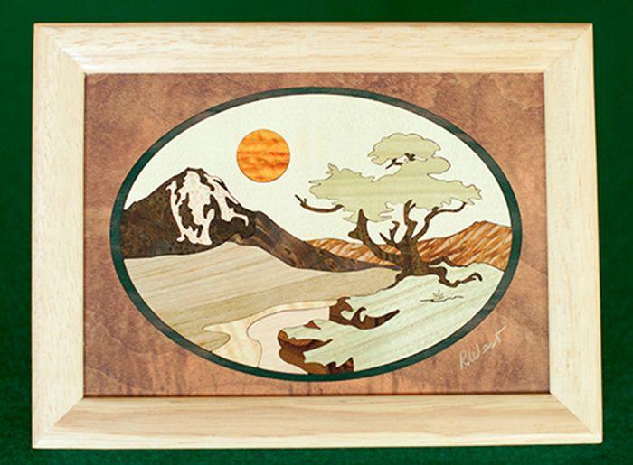 Mountain Tree Wood Box (6 X 8)