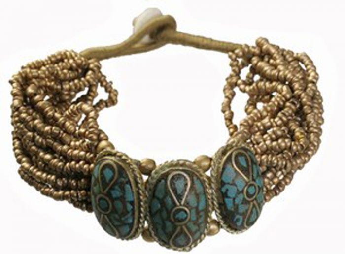 Tibetan Naga Tribal Bracelet (Gold).